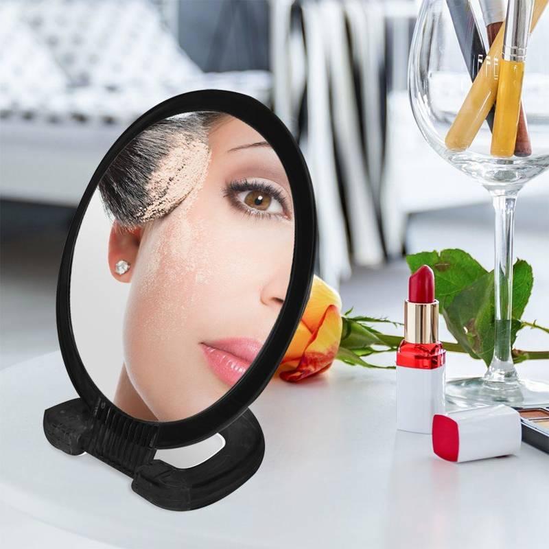 Lustro, lusterko kosmetyczne, do makijażu, duo, stojak, ⌀15 cm