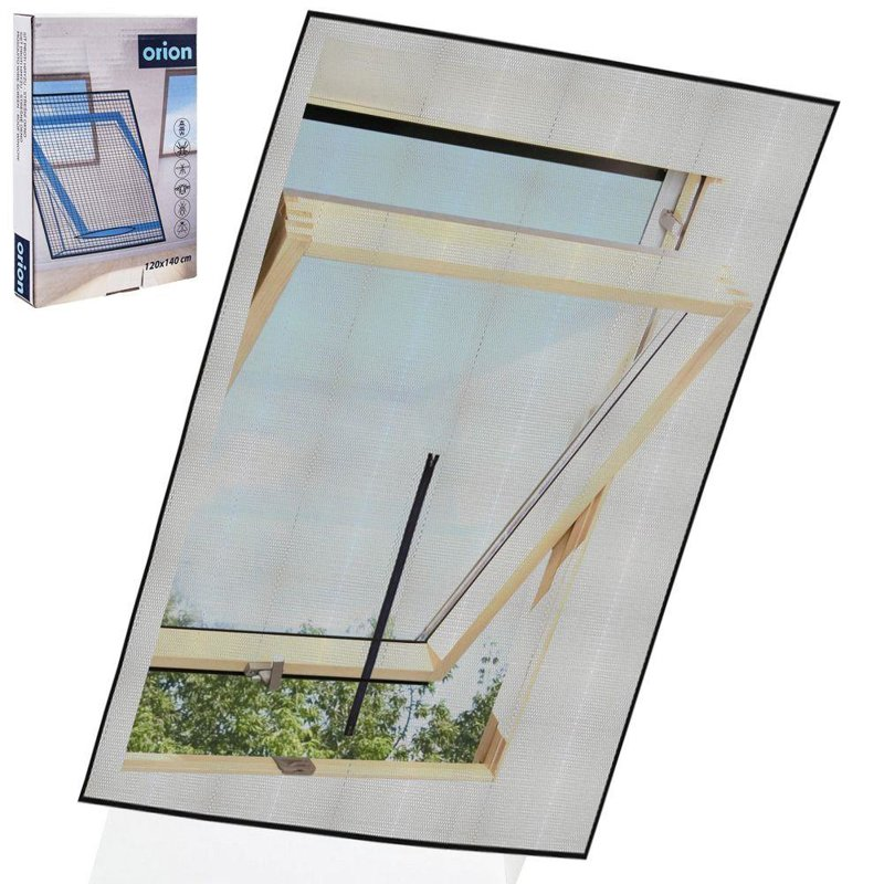 Moskitiera, siatka na okno dachowe, owady, komary, 120x140 cm, czarna