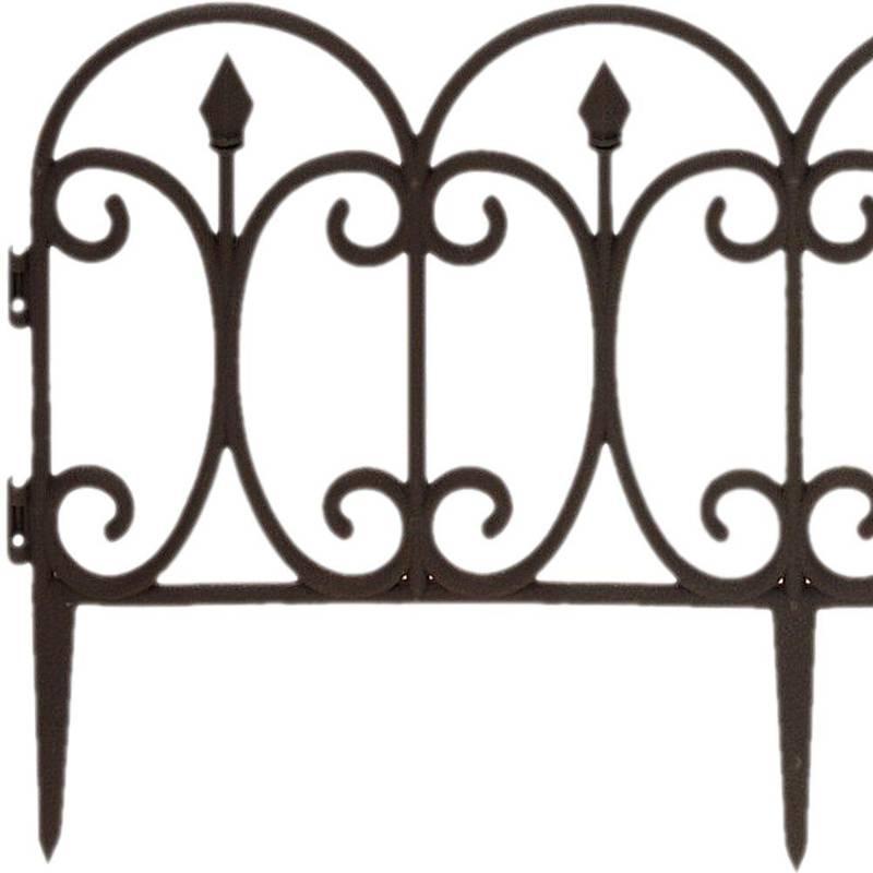 Palisada, płotek ogrodowy, brązowy, 60x32 cm, obrzeże