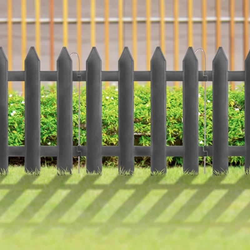 Palisada, płotek ogrodowy, szary, 30x30 cm, 10 szt