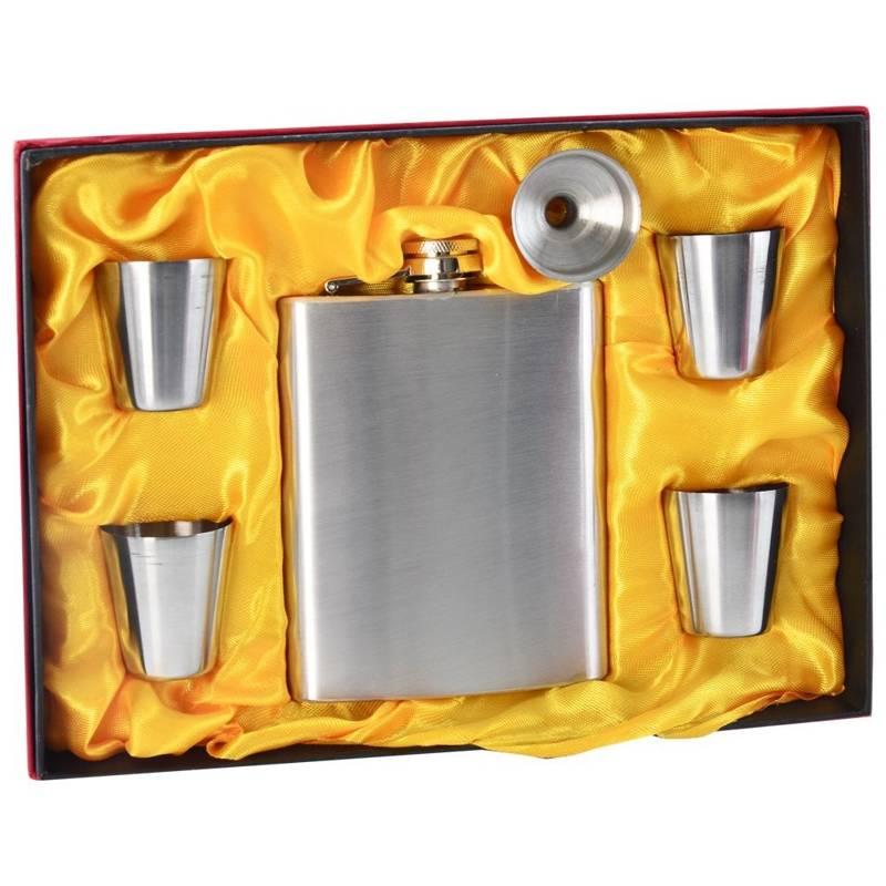 Piersiówka z akcesoriami ORION 210 ml 6 elementów