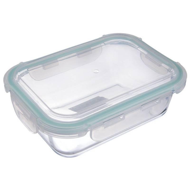Pojemnik na żywność szklany hermetyczny szczelny z pokrywką na klipsy 22x16,5 cm