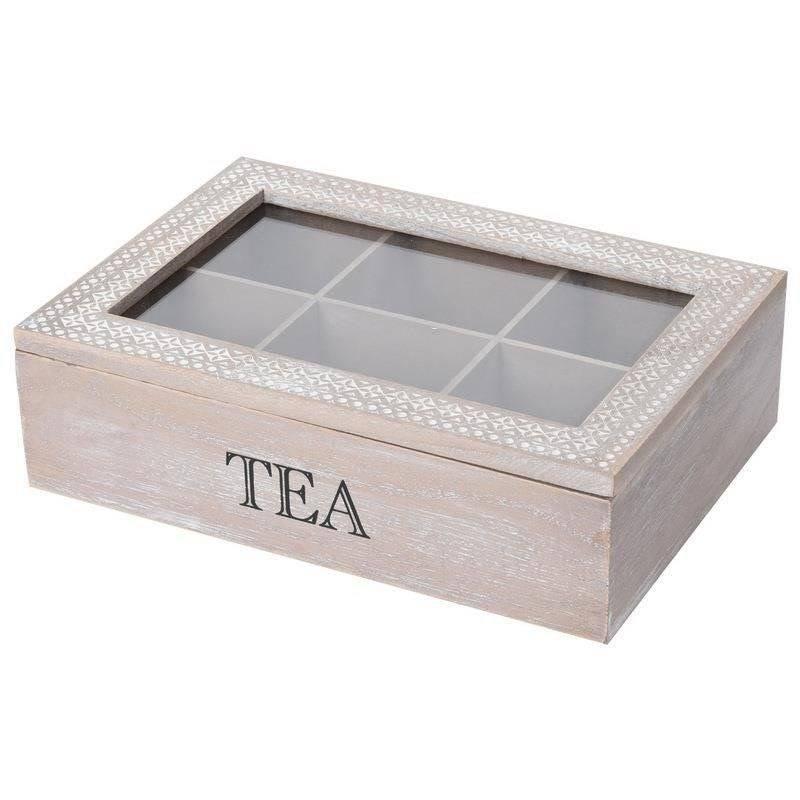 Pojemnik organizer pudełko na herbatę drewniany herbaciarka