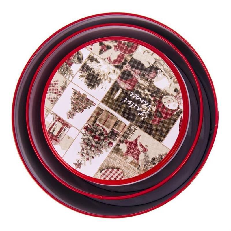 Pojemnik / puszka / pudełko RETRO święta 19,5 cm