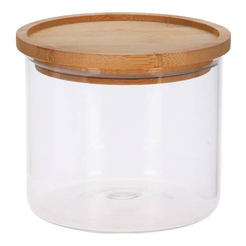 Pojemnik szklany kuchenny, słój, słoik, 0,95 l, z pokrywką bambusową, uszczelką, na makaron, płatki, kawę, produkty sypkie