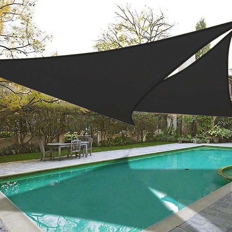 Przeciwsłoneczny żagiel ogrodowy, zacieniacz, markiza, parasol, + linki, 3 m, czarny