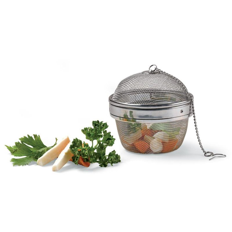 Sitko z łańcuszkiem do przypraw, koszyk na przyprawy, do gotowania zupy, 9 cm