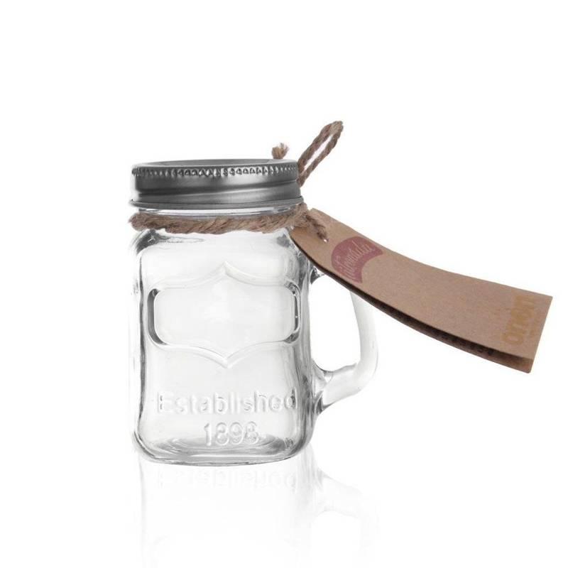 Słoik kieliszek do picia z uchem shotów wódki 130 ml