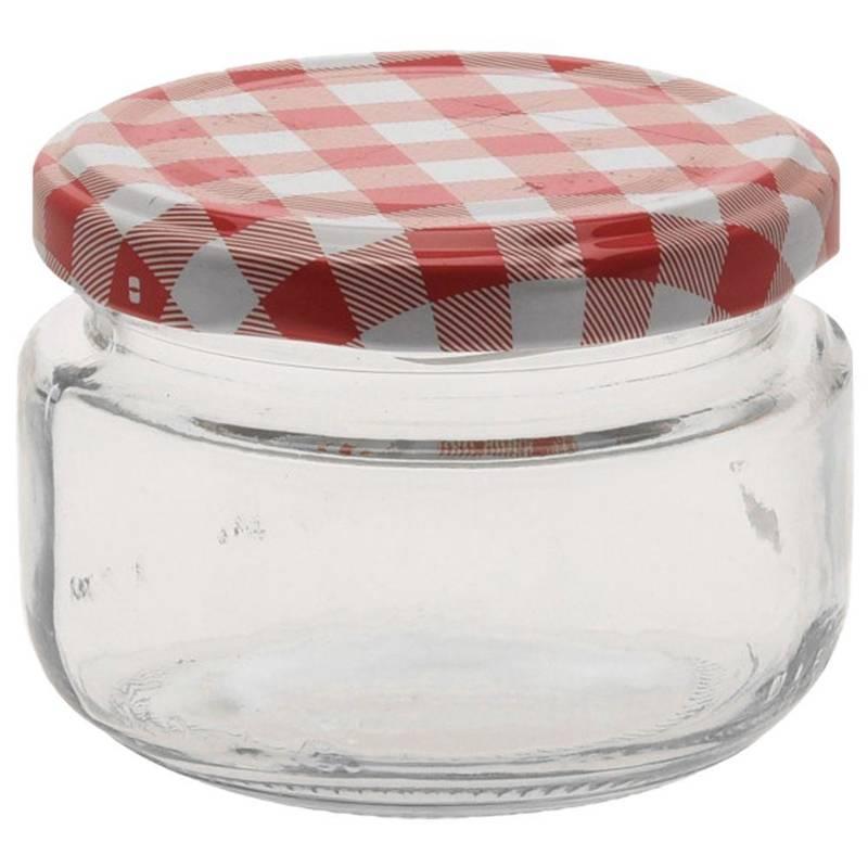 Słoik na PRZETWORY, pojemnik szklany na dżem, miód, zestaw, komplet słoików, 12 sztuk, 140 ml