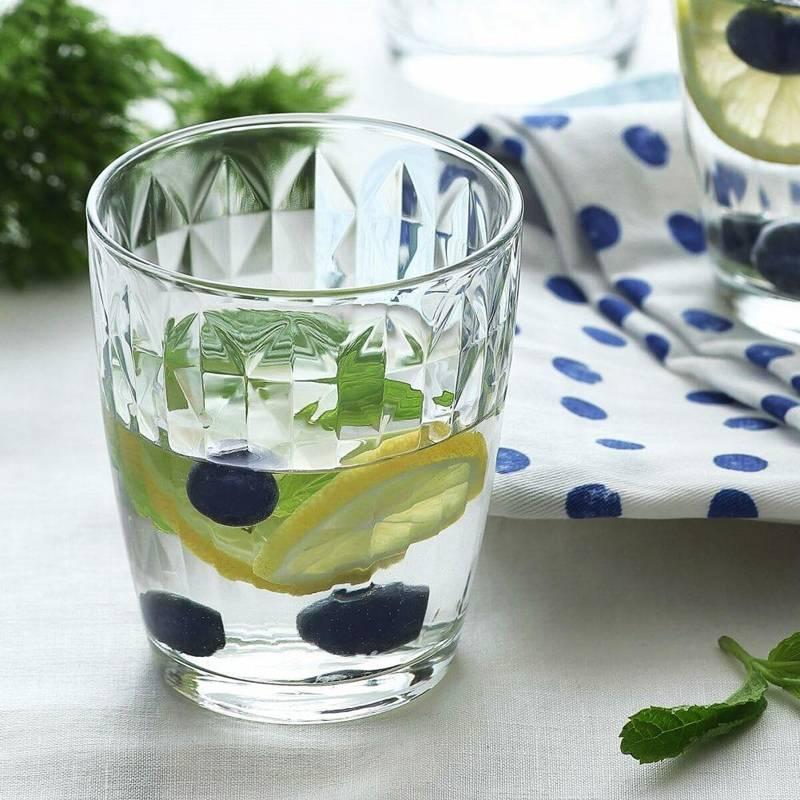 Szklanka do wody, napojów, soku, lemoniady, drinków, 340 ml, 6 sztuk, zestaw, komplet szklanek