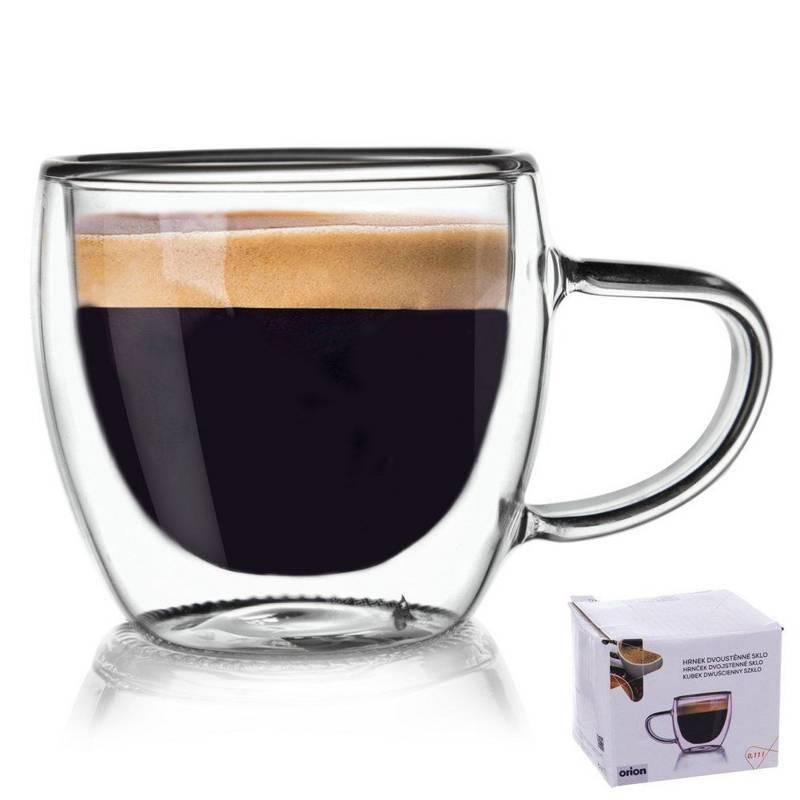Szklanka termiczna z podwójną ścianką do kawy. 0,1 l