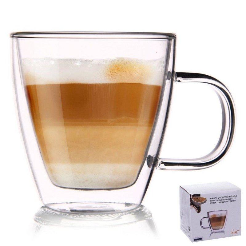 Szklanka termiczna z podwójną ścianką do kawy, 0,18