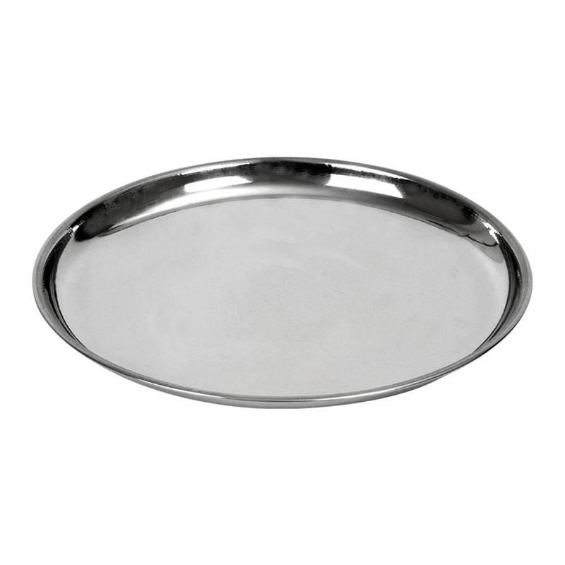 Taca do serwowania stalowa okrągła talerz 21 cm