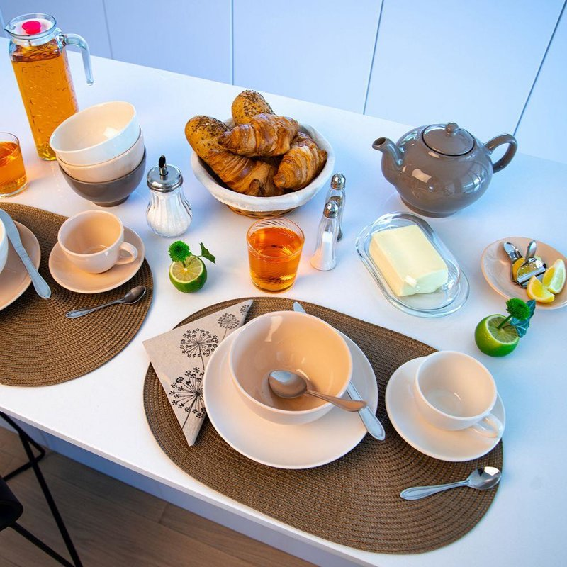 Talerz, obiadowy, płytki, ceramiczny, 27,5 cm, brązowy