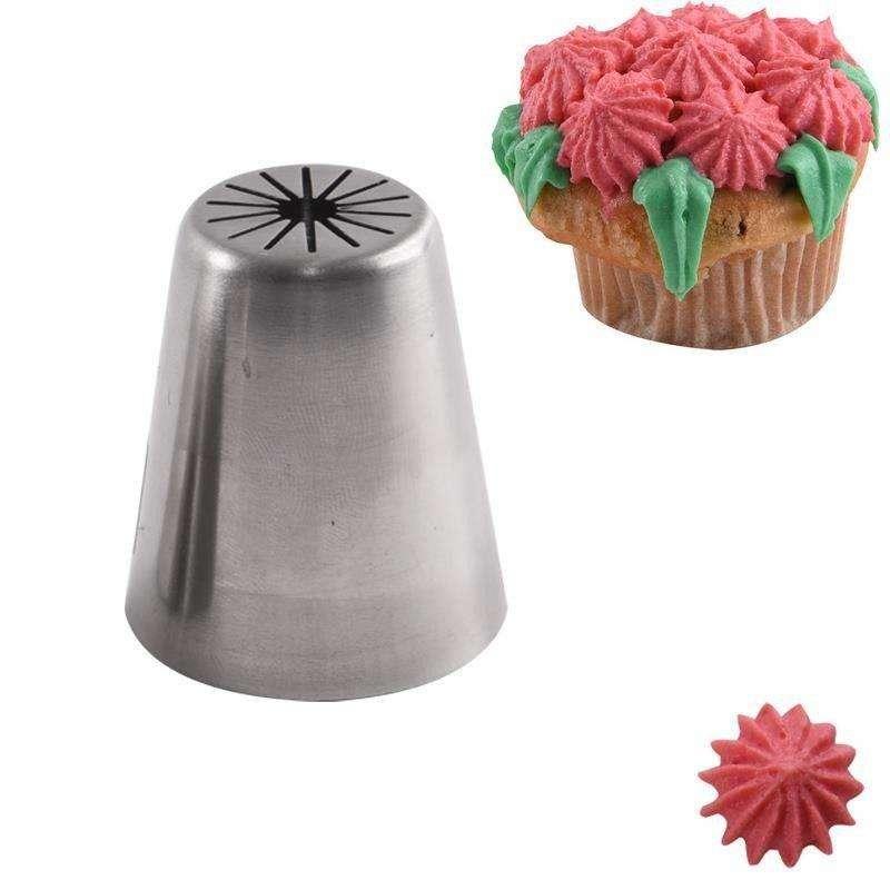 Tylka ROSYJSKA cukiernicza stalowa końcówka do dekoracji KWIATY kwiatki