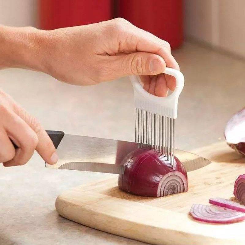 Uchwyt grzebień do krojenia cebuli warzyw
