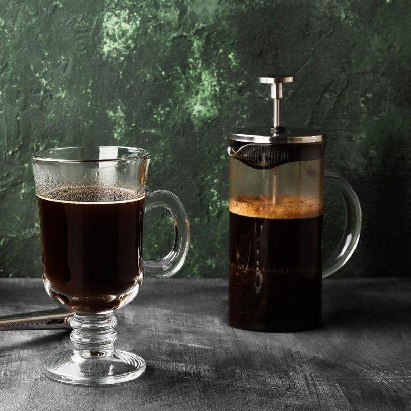 Zaparzacz imbryk DZBANEK szklany z tłokiem do kawy herbaty ziół 1L