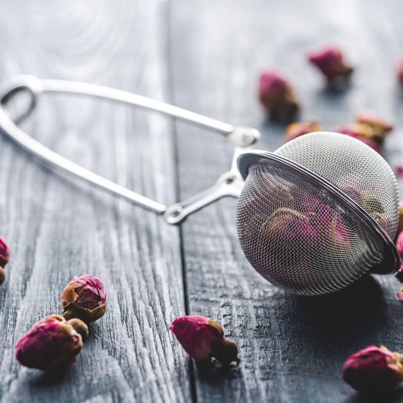 Zaparzacz sitko stalowe do zaparzania parzenia herbaty ziół szczepce z uchwytem