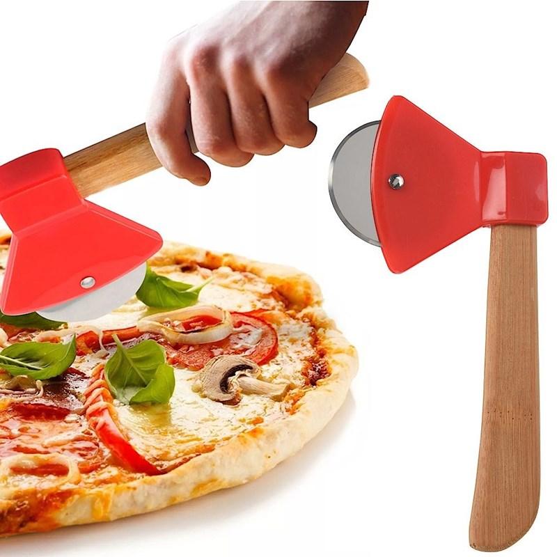 Cuțit rotund, tăietor de pizza, oțel, feliator, tocător