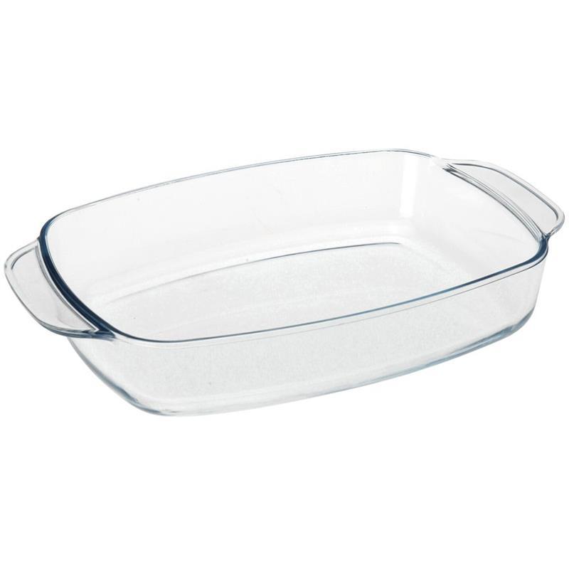 Farfurie din sticlă termorezistentă, formă de prăjire, formă de copt, formă pentru prăjirea cărnii, legumelor, 2,3 l