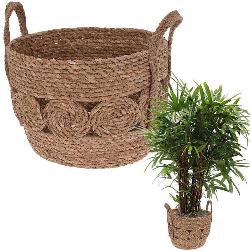 Înveliș, ghiveci, ghiveci de flori, coș boho, coș pentru ghiveci, plante, pentru depozitare, 34x25 cm