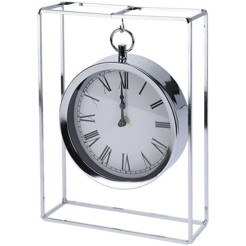Ceas, argint, pentru birou, comodă, masă, metal