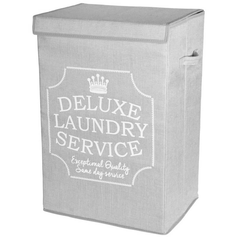 Coș de gunoi, coș de rufe, pliere, baie, 70 l, gri