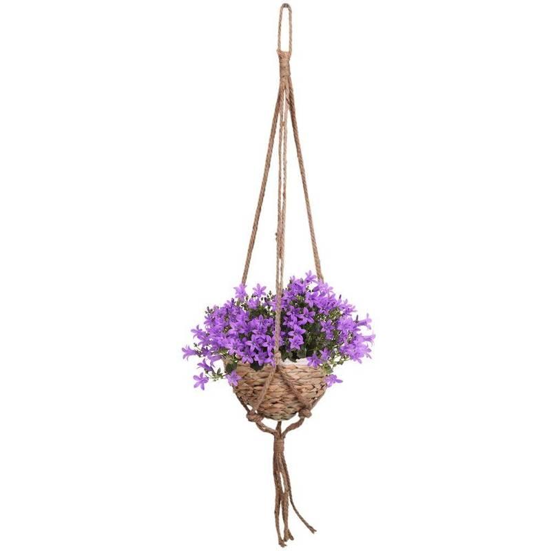Ghiveci de flori, capac de agățat țesut, pentru flori, plante, 21x14 cm
