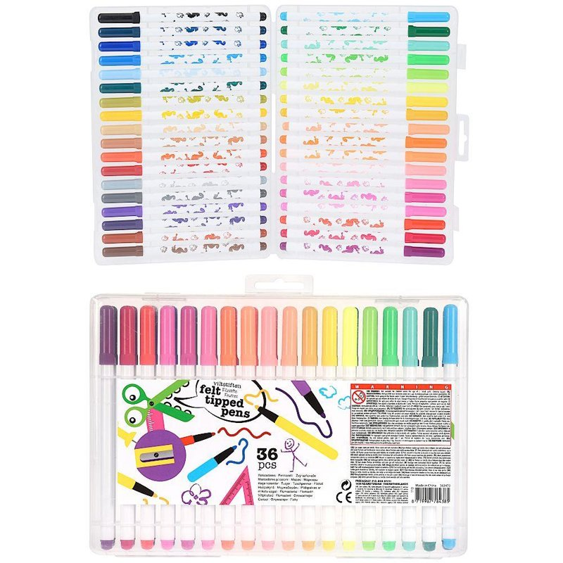 Markere, markere colorate pastel, set, set de nisipuri, markere, 36 de culori