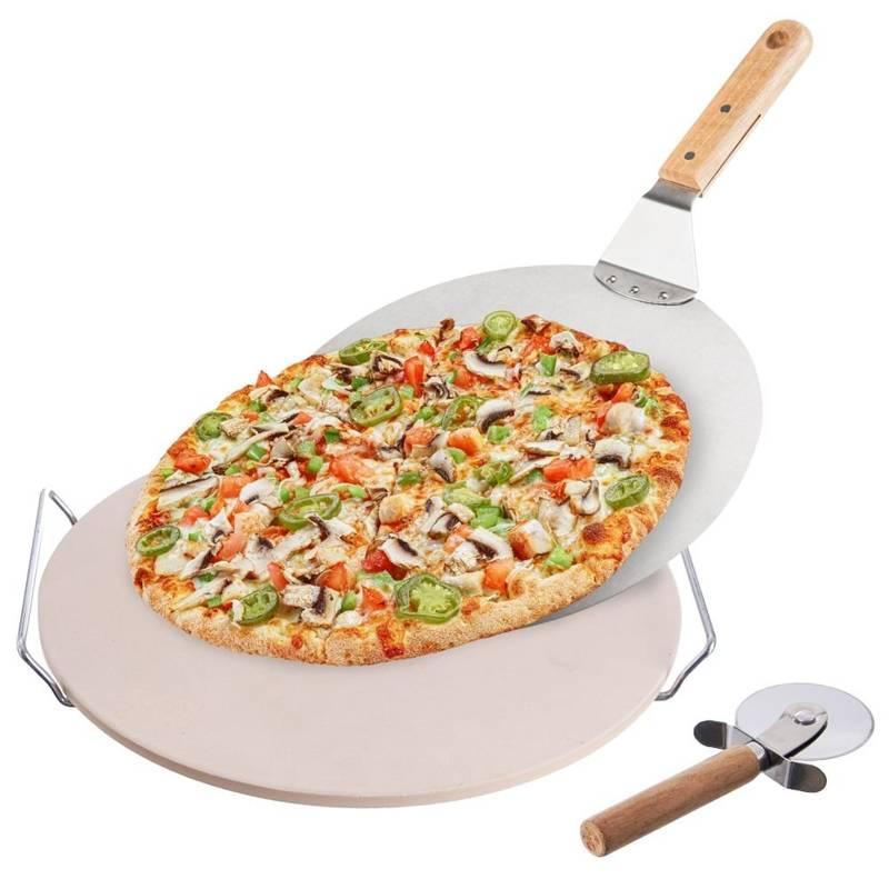 Mucegai de copt pizza + suport + cuțit + lopată
